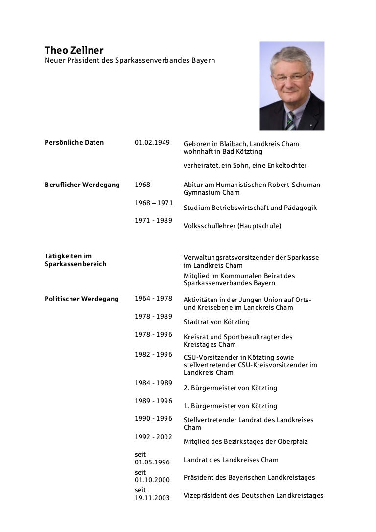 lebenslauf theo zellnerpdf - Lebenslauf Abitur