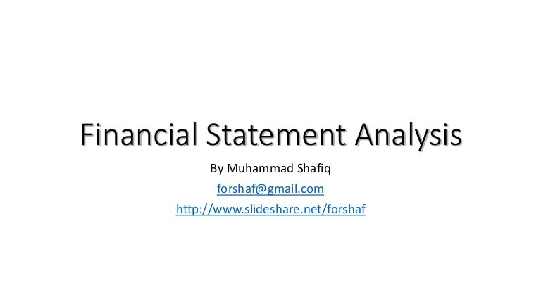 Lec  Financial Ratio Analysis