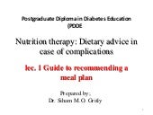 Lec 1 guide to recommending a meal plan