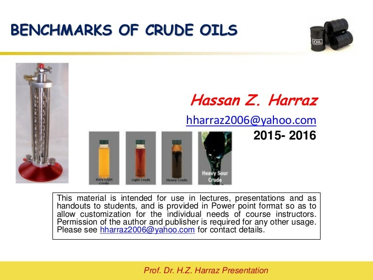 Lecture 1 Crude Oil Quality