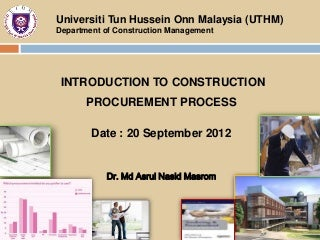 Dissertation construction procurement