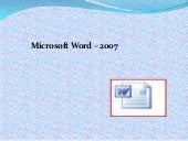 Lecture1 for MS Word2007