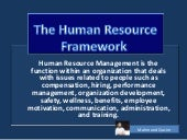 HRM framework by Mahmood Qasim