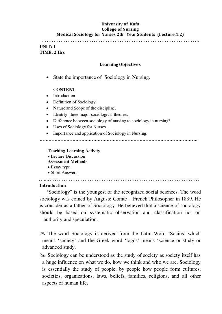 relevance of sociology pdf