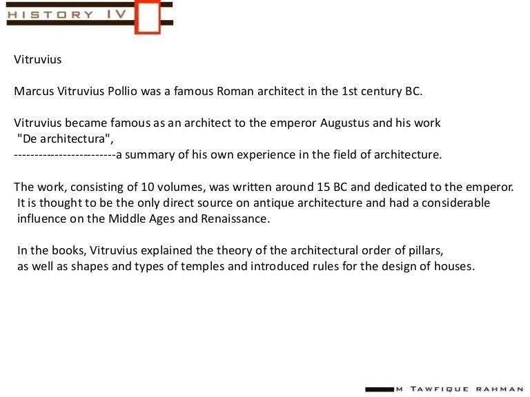 10 Books Of Architecture Vitruvius