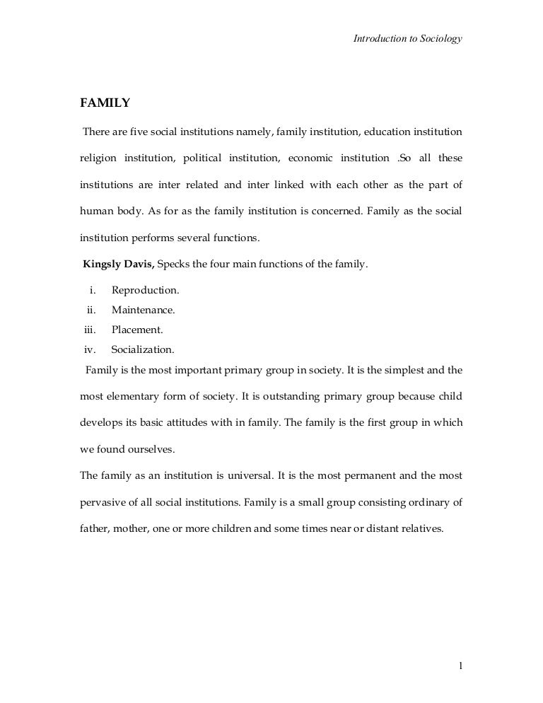 essay on family and society According to marie winn and her essay the plug-in drug, television has various negative effects on our society today in her essay winn explores the ways in which television has harmfully caused disruptions with the quality of family life, rituals, and values.