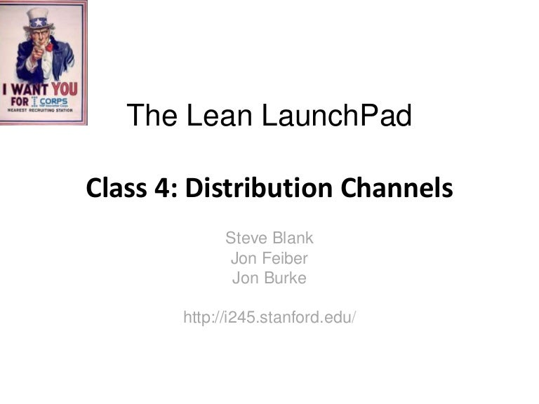 Lecture 4 Distribution Channels
