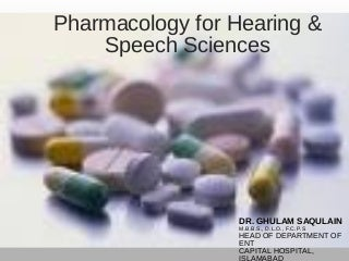 Lectures 01 Pharmacology & its Branches/ Divisions Drug and drug nomenclature, Prescription
