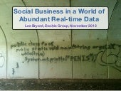 Social Business in a World of Abundant Real-time Data