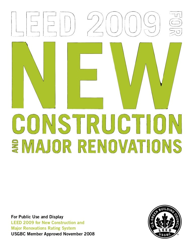 leed 2009 for new construction and major renovations