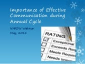 Importance of Effective Communication during Annual Performance & Rewards Cycle