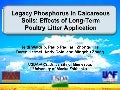 Legacy phosphorus in calcareous soils effects of long term poultry litter application on phosphorus distribution in texas blackland vertisol