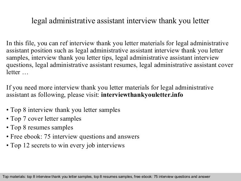 legal administrative assistant - Cover Letter Sample For Executive Assistant Position