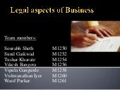 Legal aspects (transfer of ownership)