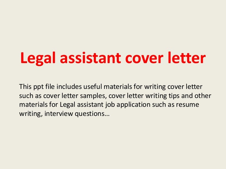 Legal Assistant Cover Letter | Resume Cv Cover Letter