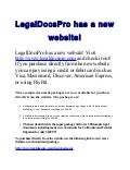 Legal docspro has a new website
