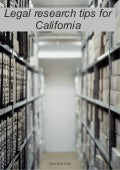 Legal research tips for California