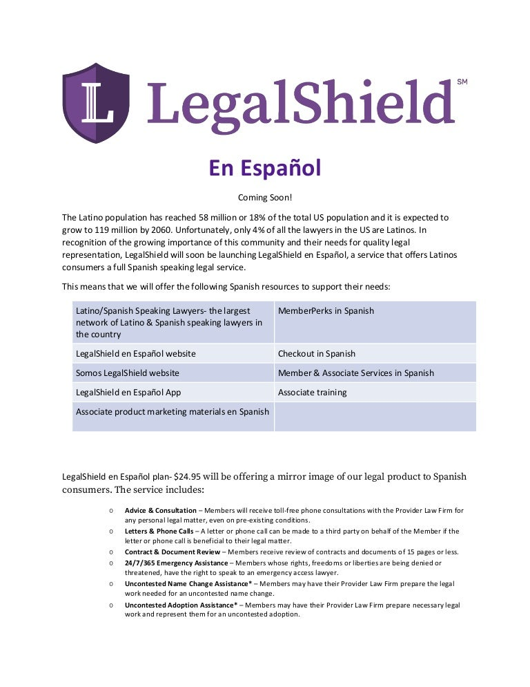 Legal shield slideshow.