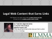 Legal Web Content that Earns Links
