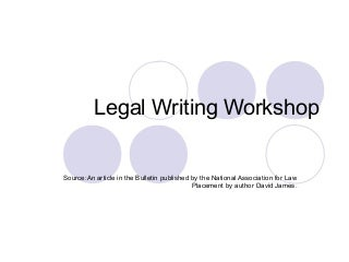 What is Legal Writing class like in law school?