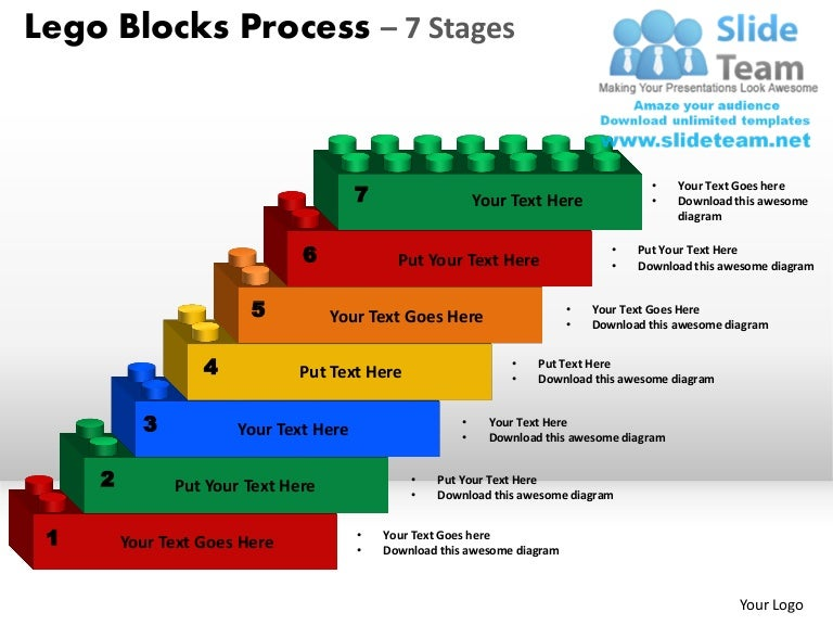 Lego Blocks Process 7 Stages Powerpoint Slides Ppt Templates