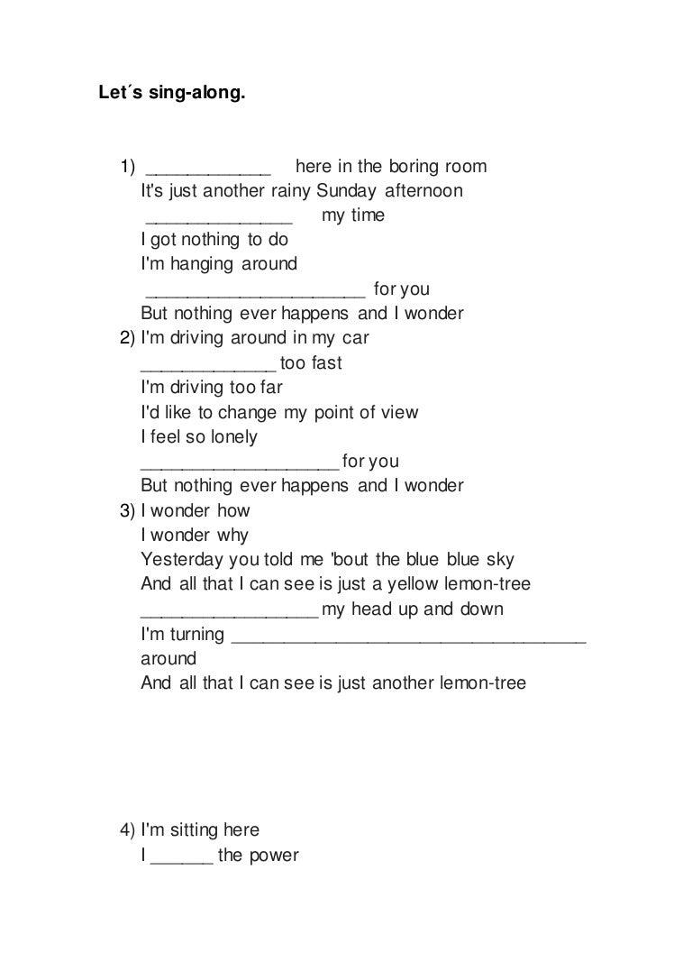 Lemon Tree Lyrics