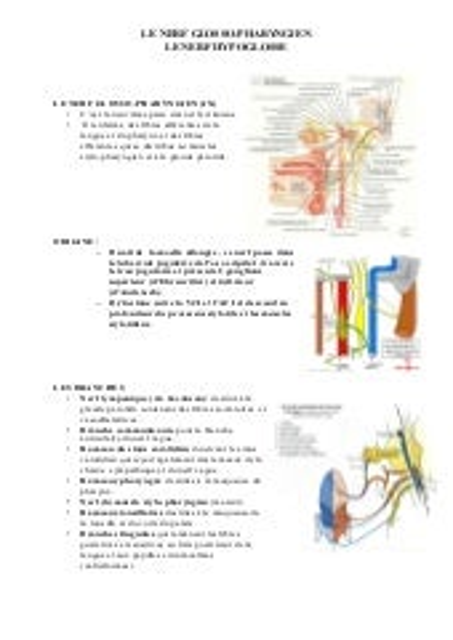 Le nerf glosso pharyngien et le nerf hypoglosse polycopie