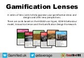 Gamification Design Lenses