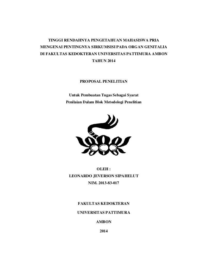 Proposal Sirkumsisi Leonardo J Sipahelut