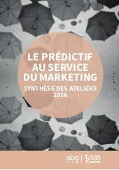 Le predictif au service du marketing  - ebg - 2016