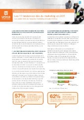 Unica : Les 11 tendances clés du marketing en 2011