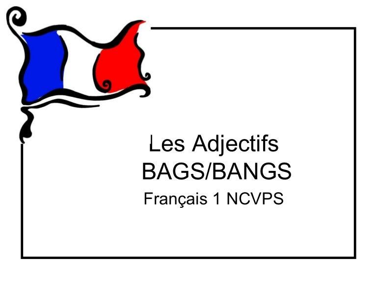 Les Adjectifs Bagsbangs