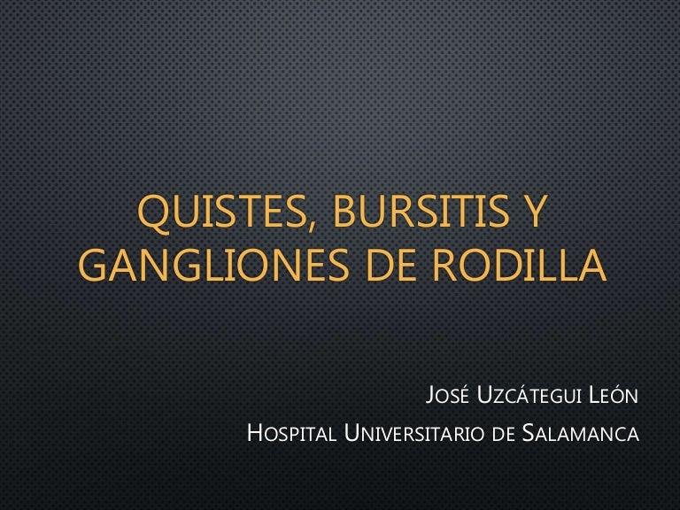 Bursitis infrarrotuliana superficial seram
