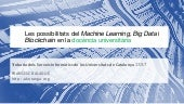 Les possibilitats del machine learning, big data i blockchain en la docència universitària