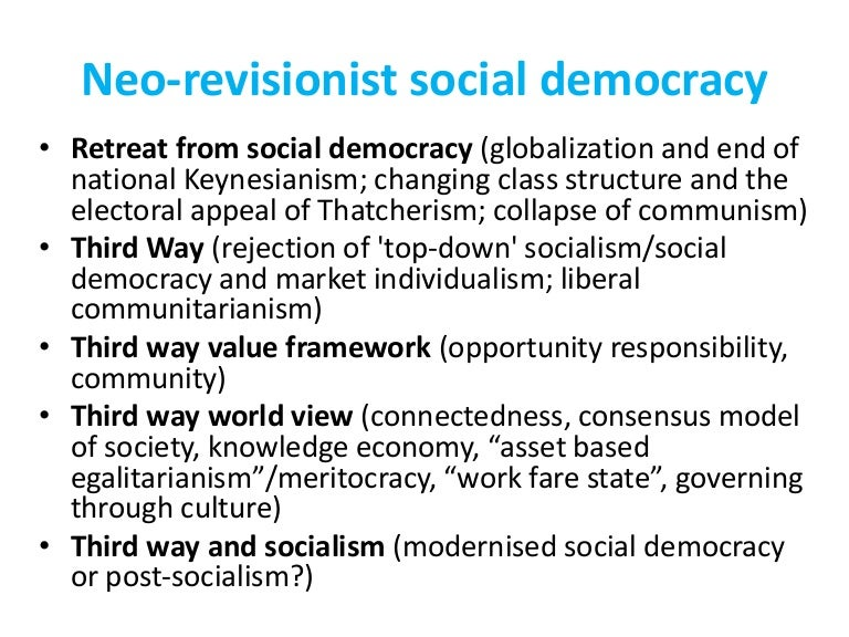 Is 'Third Way' Social Democracy still a form of social democracy?