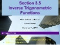 Lesson 16: Inverse Trigonometric Functions (Section 041 slides)