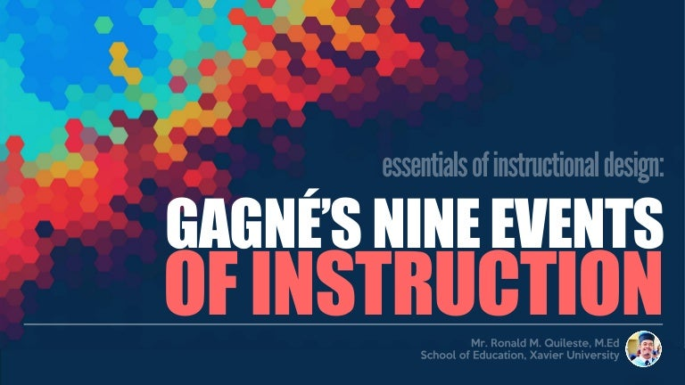 Gagne S Nine Events Of Instruction
