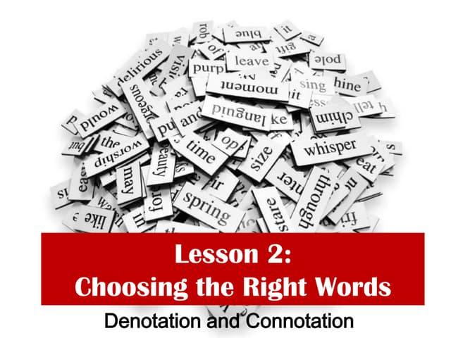 Denotation and Conotation