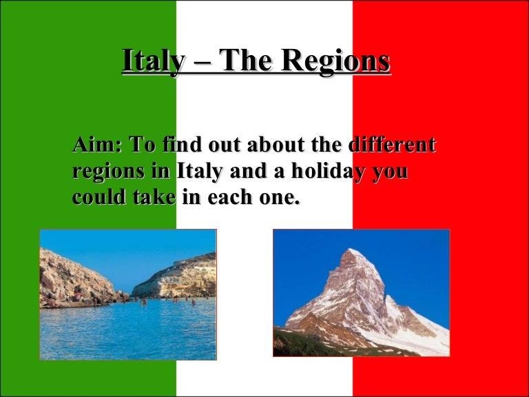 English In Italian: The Seven Regions