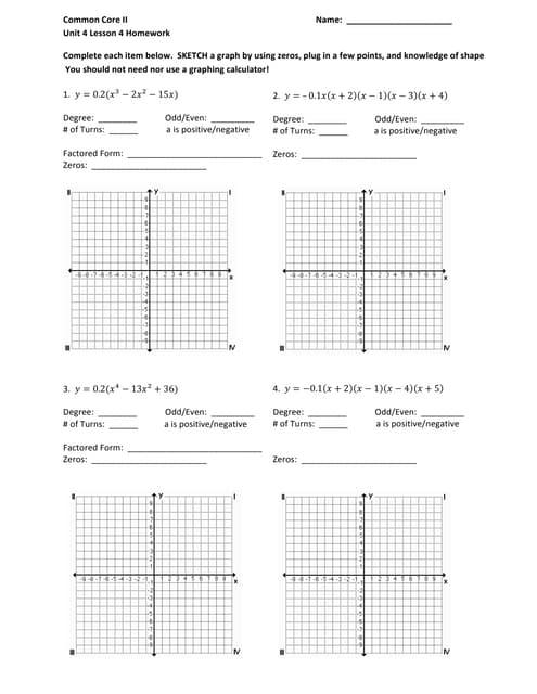 Quadratic equations project Part 1