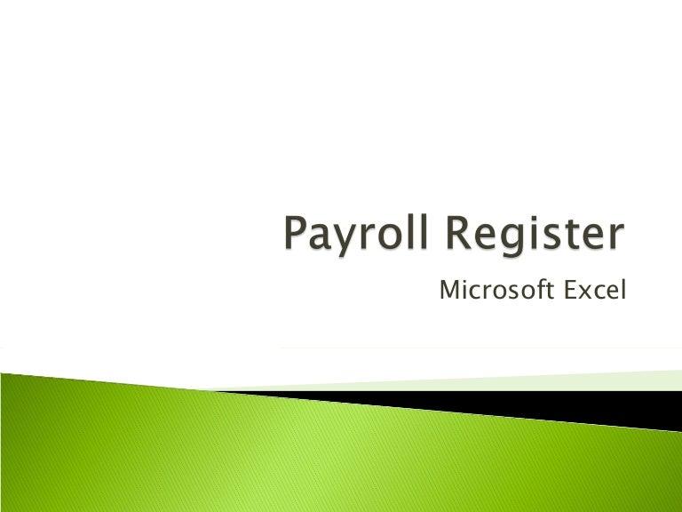 Payroll register in excel toneelgroepblik Choice Image