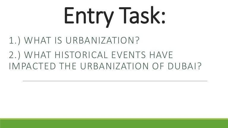 lesson urbanization essay