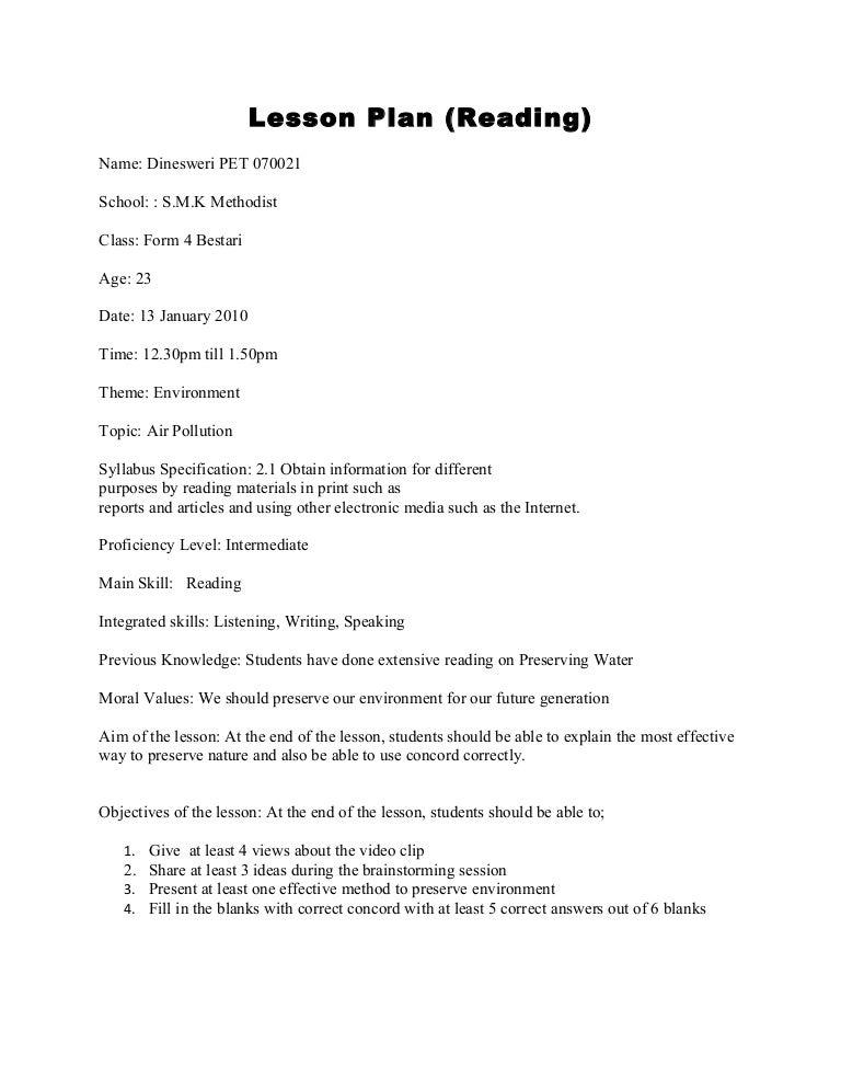 Reading comprehension grade 2 lesson plan