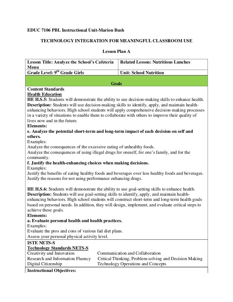 Lesson plan a nutrition – Nutrition Worksheets for High School