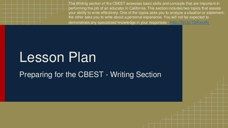 preparing for the cbest writing section