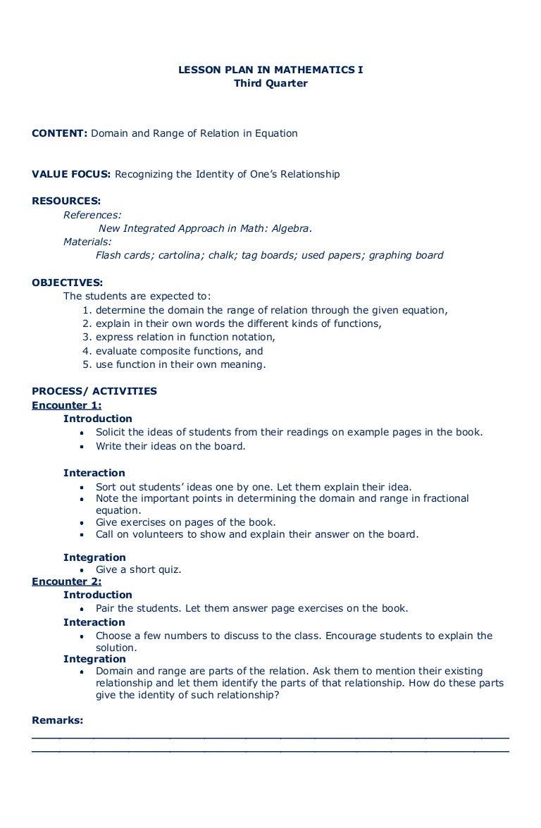 Math Worksheet : Lessonplaninmath 111010220938 Phpapp01 Thumbnail 4  Cbu003d1318285212rh Slideshare : Sample Detailed Lesson Plan In