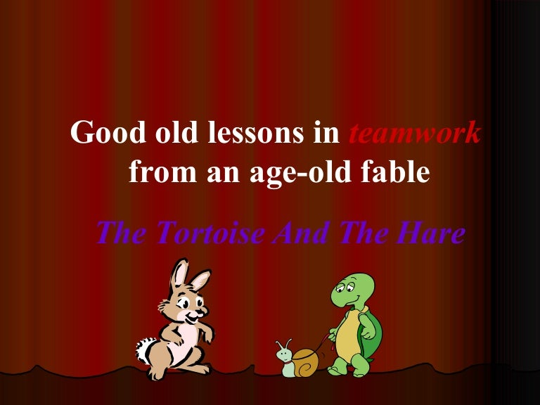 Lessons From Hare N Tortoise Story