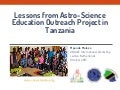 Lessons from astro science education in Tanzania by Mponda Malozo