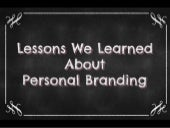 Lessons We Learned About Personal Branding