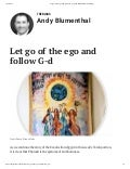 Let Go of the Ego and Follow G-d